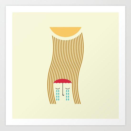 sun-rain Art Print