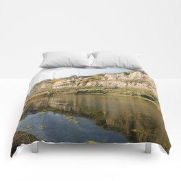 beautful reflection in Torrefumo lake in the bay of Naples Comforters