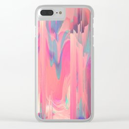 Simply Glitches Clear iPhone Case