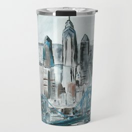 Philadelphia, Pennsylvania, USA Fine Art Acrylic Painting Travel Mug