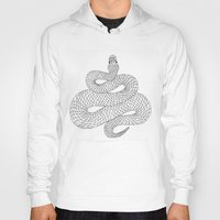snake Hoodies featuring Snake by Syrupea