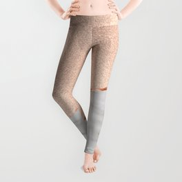 St Tropez rose gold marble Leggings