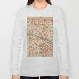Vintage Map of Paris Long Sleeve T-shirt