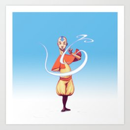 The last air bender Art Print