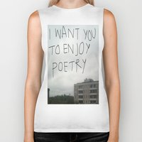 poetry Biker Tanks featuring poetry by Willow Summers