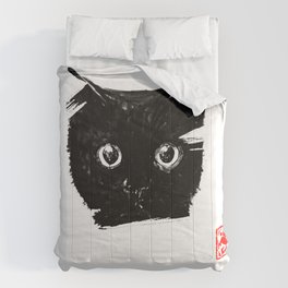 cat face for dar Comforters
