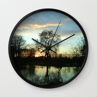 tolkien Wall Clocks featuring 'Where Night Is Quiet and Sleep Is Rest' Tolkien, Bilbo's song by TheMeliorist