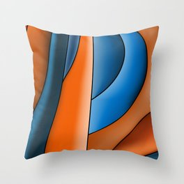 Lines Of Stained Glass Throw Pillow