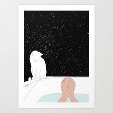 stars bath  Art Print