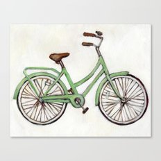 Bicycle / Green Cruiser Canvas Print