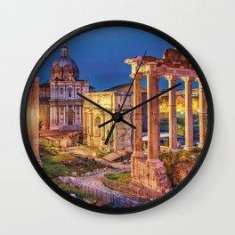 Roman Forum, Rome, Italy. Wall Clock