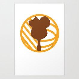 *TRANSPARENT TEXT* WDW Kingdomcast - Classic logo Art Print