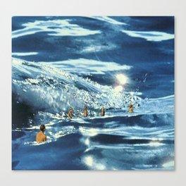 Les Baigneuses Canvas Print