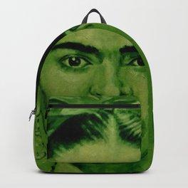 Frida Kahlo - red bow Backpack