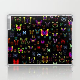 Numerous colorful butterflies on a neutral background Laptop & iPad Skin