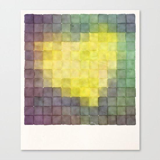 Polaroid Pixels V (Leaf heart) Canvas Print