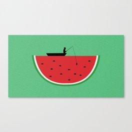 Watermelon Fisher Canvas Print