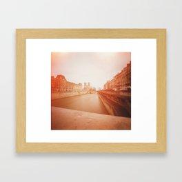 Our Lady + Seine Framed Art Print
