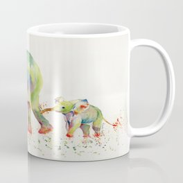 Colorful Elephant Family Coffee Mug