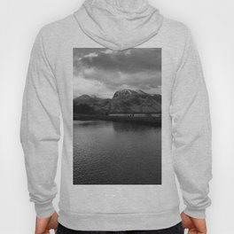 Scottish Highlands Ben Nevis from Caledonian Canal B & W Hoody
