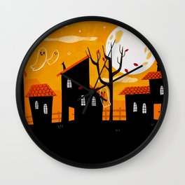 A Haunting We Will Go Wall Clock