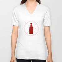 true blood V-neck T-shirts featuring Badge inspired by True Blood by Purshue feat Sci Fi Dude