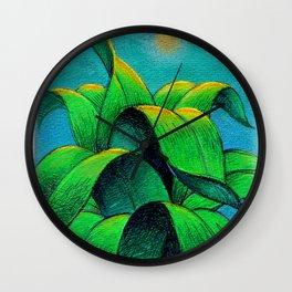 Desert plant Wall Clock