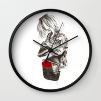 military Wall Clocks featuring Military Jacket by MASALEVICH