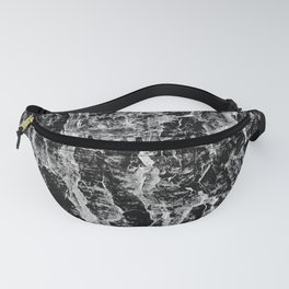 Lava cascade in black and white Fanny Pack