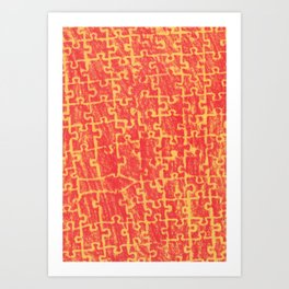 Life is a puzzle 21 Art Print