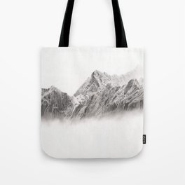 mountain range pencil art Tote Bag