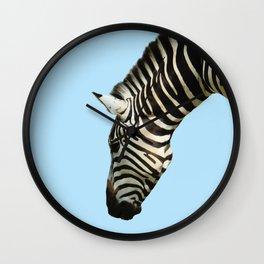 Zebra by Kokatu BLUE Wall Clock