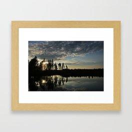 Symmetrical Pine Valley  Framed Art Print