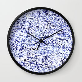 blue drops Wall Clock