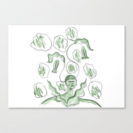 Thinker of Tender Thoughts Canvas Print