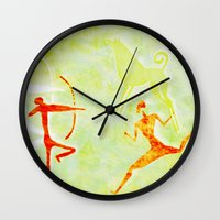 hunting Wall Clocks featuring Hunting by LoRo  Art & Pictures