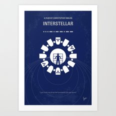 No532 My Interstellar minimal movie poster Art Print