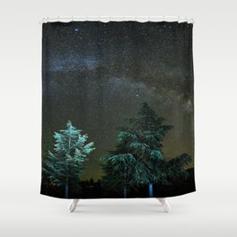 Milkyway at the mountains II Shower Curtain
