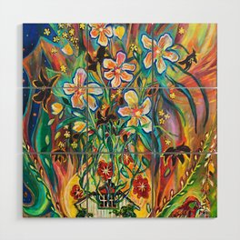 House in Bloom Wood Wall Art