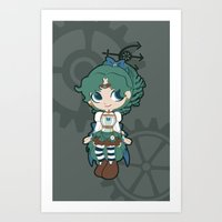 Steampunk Sailor Neptune - Sailor Moon Art Print