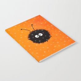 Orange Cute Dazzled Bug Winter Notebook