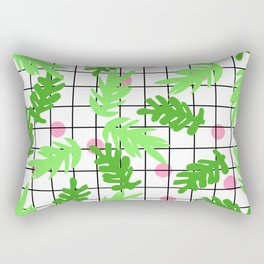 Anja - botanical house plant nature urban home garden hipster grid black and white trendy  Rectangular Pillow