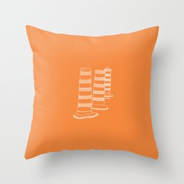 Montreal - Cones oranges - White Throw Pillow