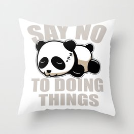 Panda Lazy sleeping Nothing doing Couch gift Throw Pillow