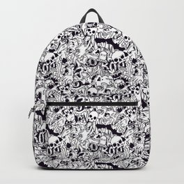 BW Halloween horror pattern Backpack