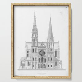 Cathedrale De Chartres Chartres Cathedral Serving Tray