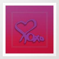 Heart xoxo Art Print