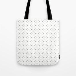Desert Sage Grey Green Polka Dot Hearts on White Tote Bag