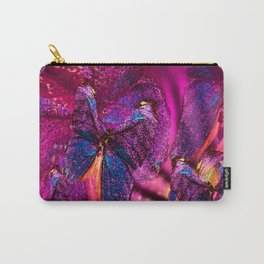 Butterflies Celebration In Pink And Purple Colors #decor #society6 Carry-All Pouch