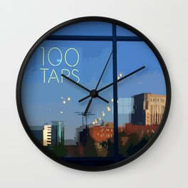 Downtown Kalamazoo 100 Taps Wall Clock